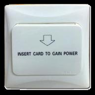 Encendido de energía de hotel con tarjeta